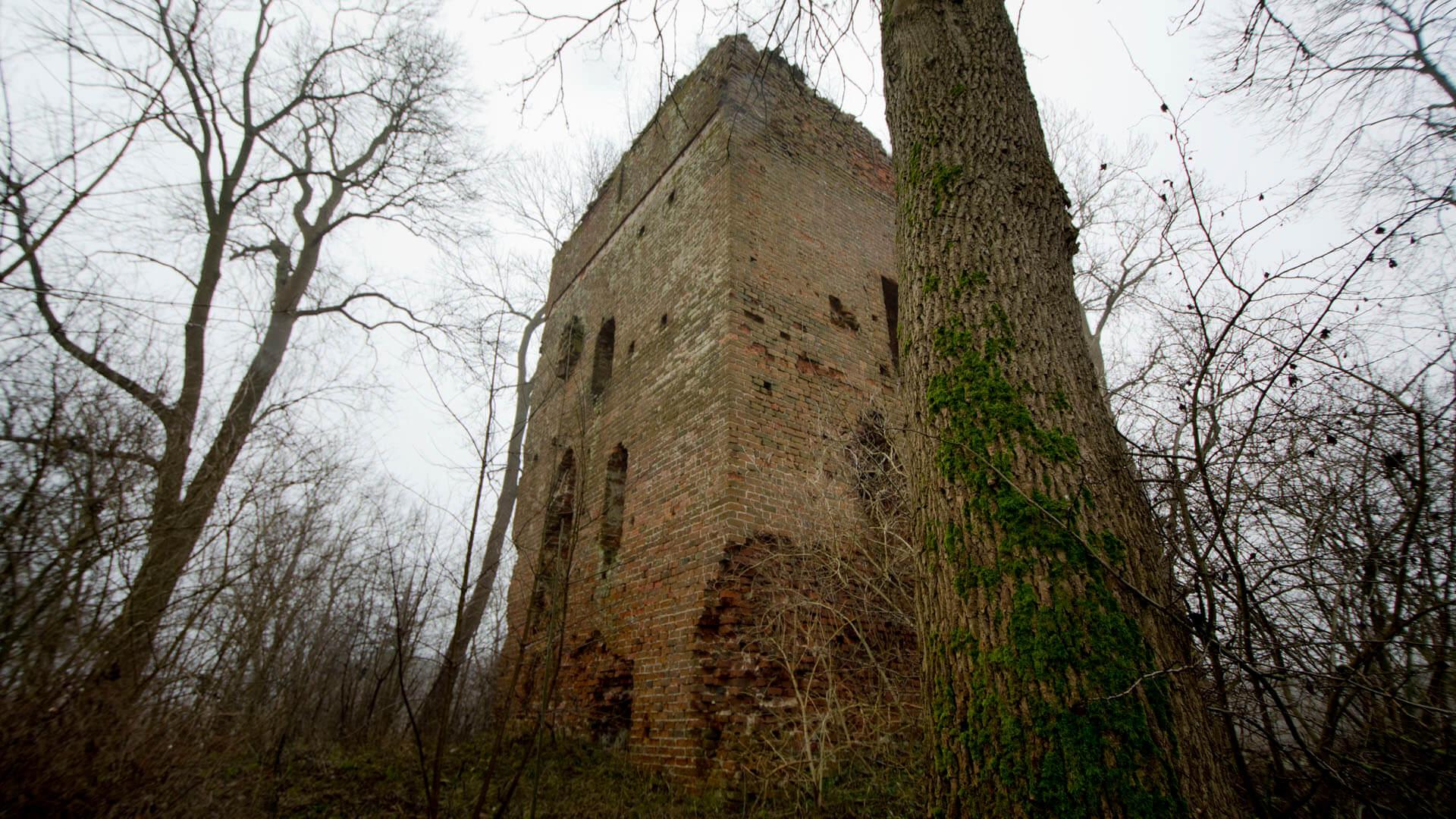Wohnturm der Burg Stuer