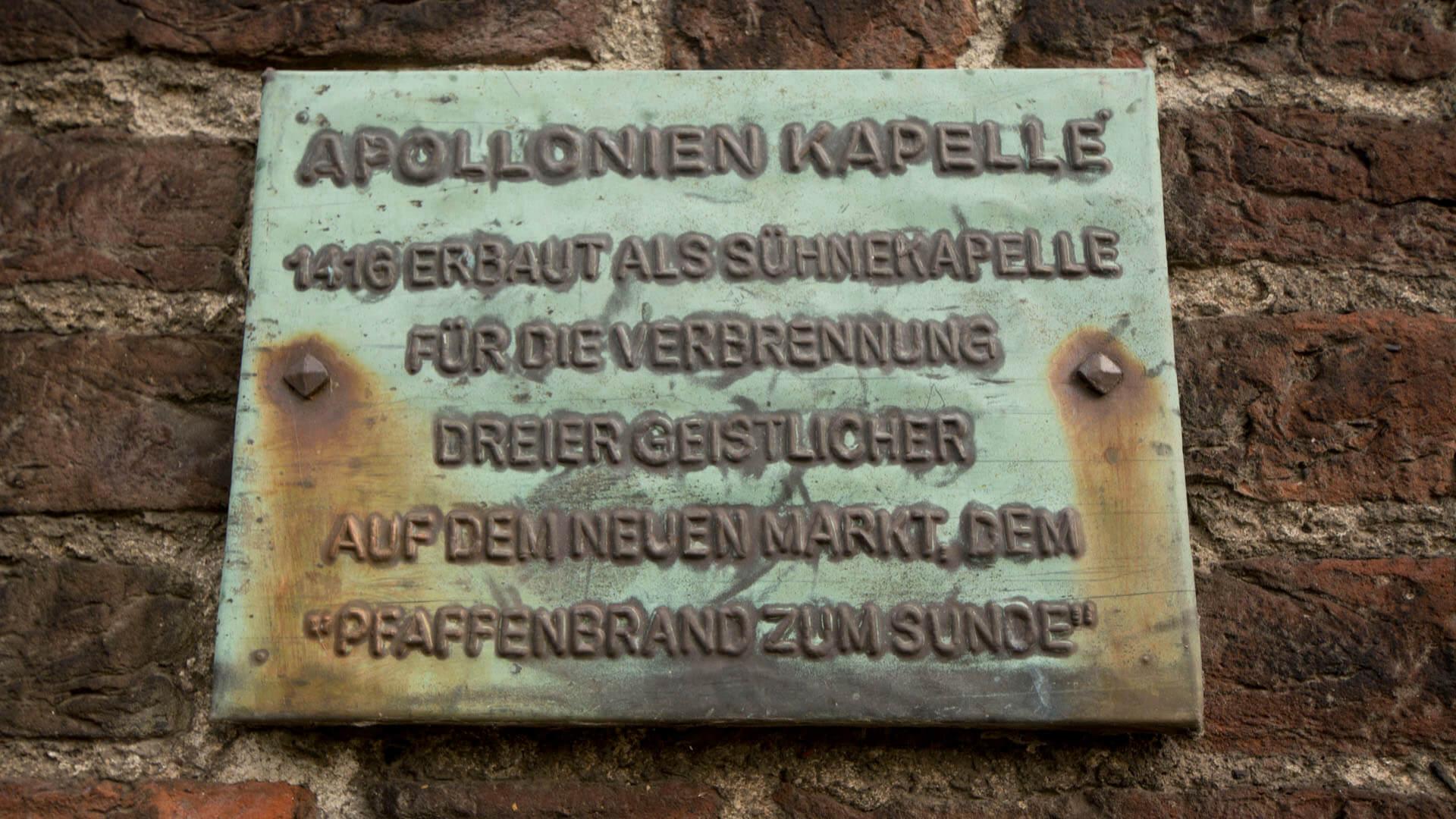 Informationstafel zum Papenbrand thom Sunde.