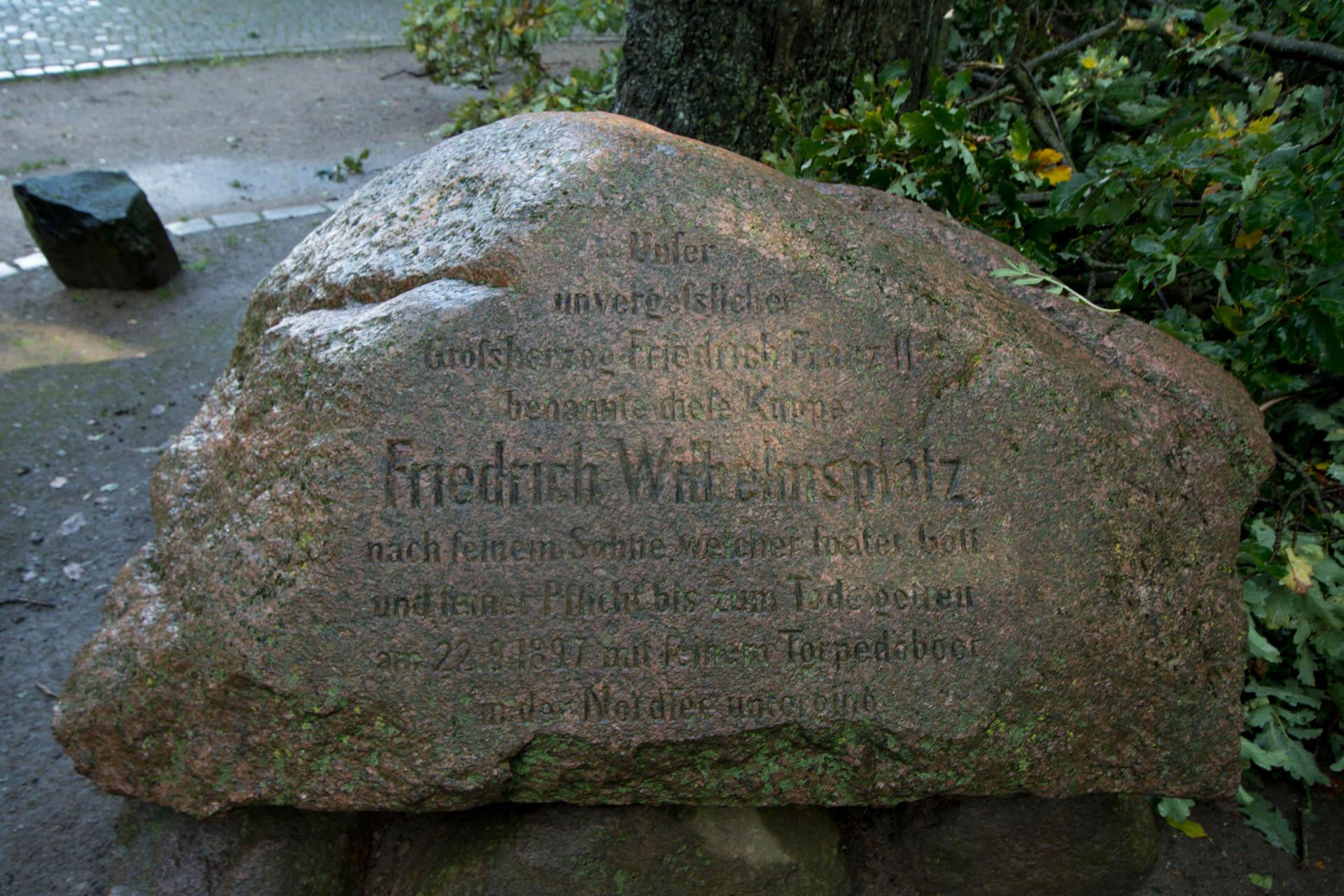 Gedenkstein an Friedrich Wilhelm von Mecklenburg