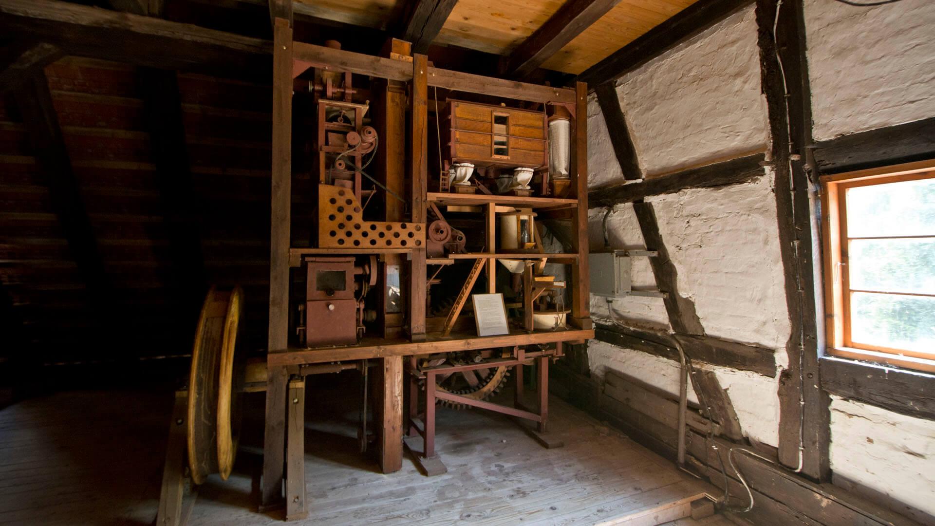 Miniatur der Wassermühle in Kuchelmiß