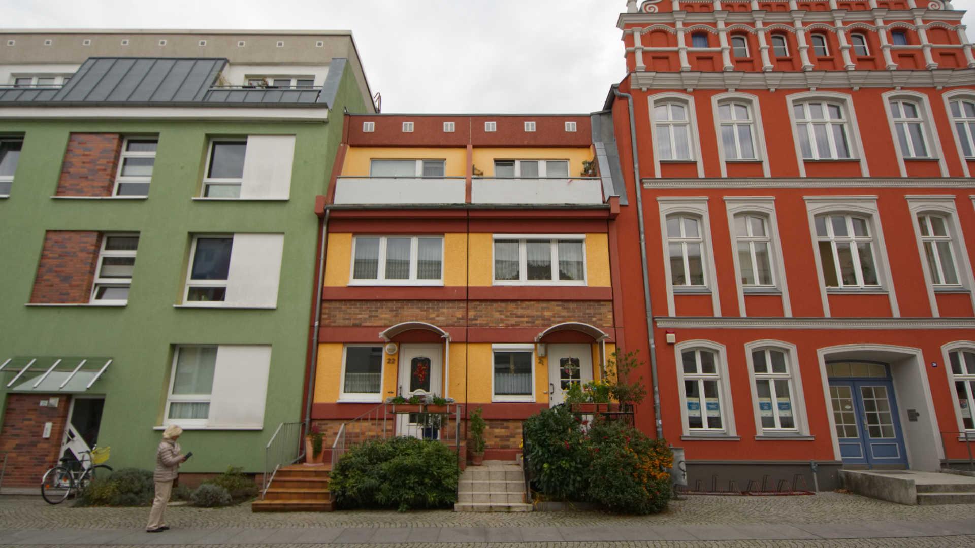 Unterschiedliche Fassaden in Greifswald
